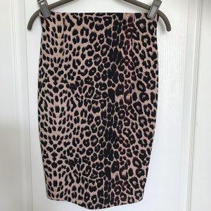 Animal Print Skirt Small